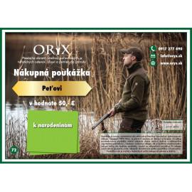 Poukážka ORYX
