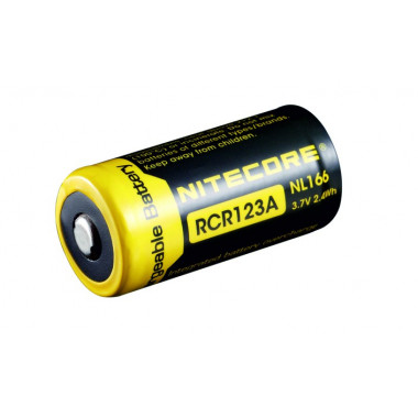 RCR123A nabíjecí Li-Ion aku, 650mAh 3,7V 2,4Wh